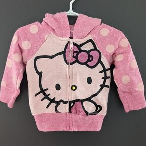 Hello Kitty pink zip up hoodie